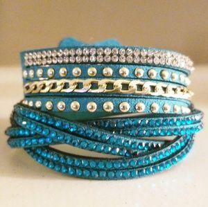 New Blue Bling Wrap Bracelet